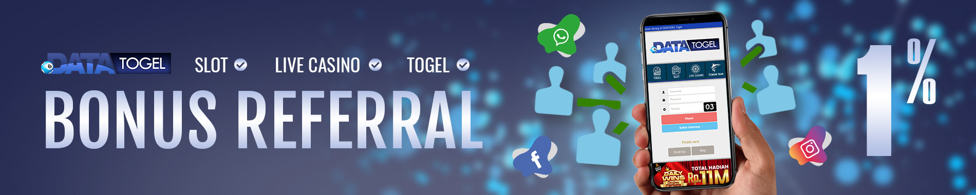 DATATOGEL BONUS REFERRAL 1%